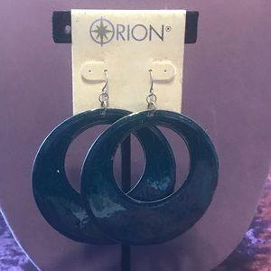 New Large green drop hoop earrings.  2/$12 Sale
